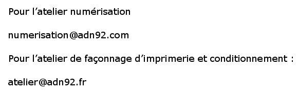 adresses emails